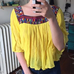 Urban Outfitters Embroidered Top